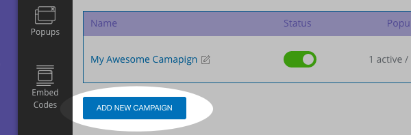 Click Add New Campaign
